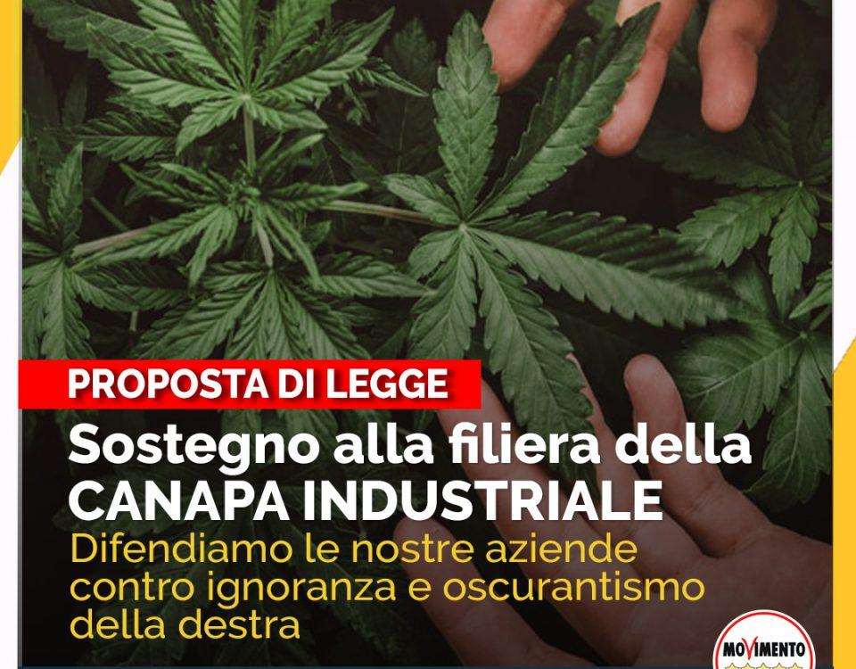 sostegno alla filiera della canapa industriale proposta di legge