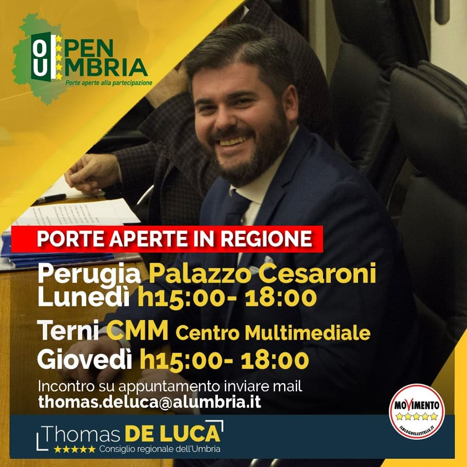 Open Umbria porte aperte in regione