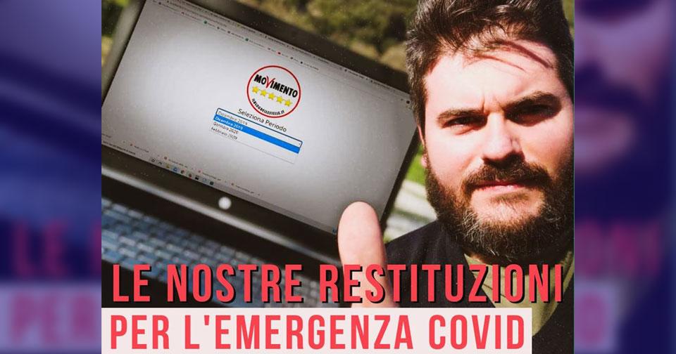 restituzioni m5s umbria emergenza coronavirus